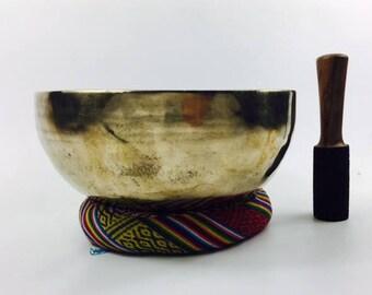 "10"" (Multi Chakra) Traditional Hand Made Tibetan Sound Healing Singing Bowl - 1.85 kg ॐ"