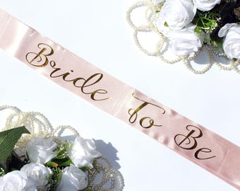 Bachelorette Party Sash, Rose Gold Sash, Bride Tribe, Bridal Shower, Gold Glitter Sash, Pink Bachelorette Sash, Bride To Be, Model Rose