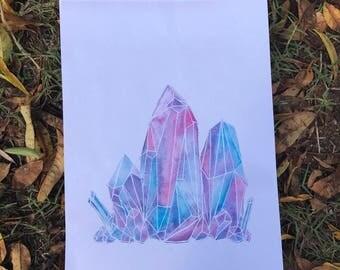 Rainbow Crystal Cluster Prints