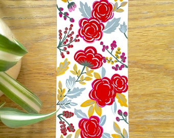 Floral Hand Painted Bookmark 1