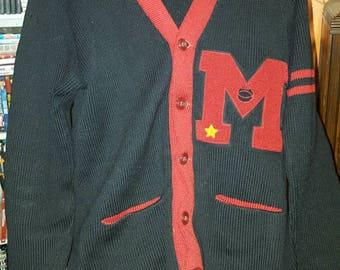 Vintage athletic cardigan