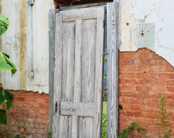 Old Door and exposed brick
