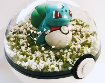 Pokemon Terrarium Pokeball Diorama Pokeglobe - Birthday / Good Friday / Easter Gift - Customize Your Own! 100mm