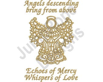 Angels Descending - Machine Embroidery Design