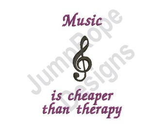 Music Therapy - Machine Embroidery Design