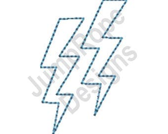 Lightning Bolts Outline - Machine Embroidery Design