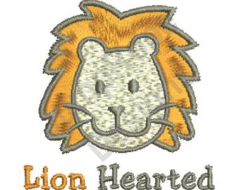 Lion Hearted - Machine Embroidery Design