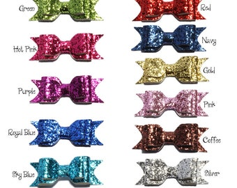 9.5cm Newborn DIY Shiny Sequin Hair Bows for Hair Clips Handmade Applique Sequins Hairbows Knot for Baby Girls Hair Accessories No Clips