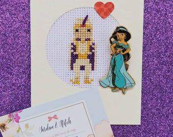 Prince Ali (Aladdin) Cross Stitch Card