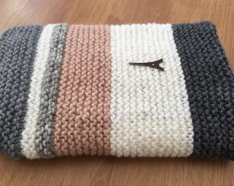 Wool and cotton baby blanket