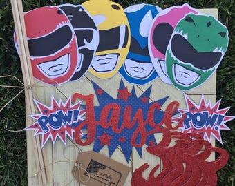 Power Rangers Party Centerpieces