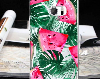 Watermelon case htc one M9 one M10 case leaves case htc 10 htc 10 Lifestyle one A9 one X9 htc U11 Bolt htc 10 evo Desire 10 ProDesire 828