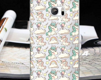 Unicorn case HTC Wildfire S One XL one M7 one M8 one M9 one M10 htc 10 Lifestyle one A9 one E9+ one X9 Bolt HTC 10 evo Butterfly 3 cute case