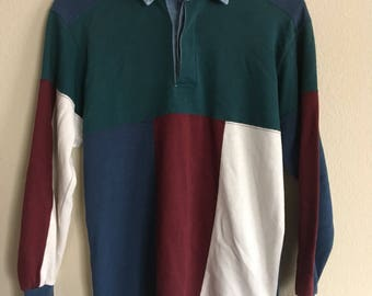 Vintage 90s looking sweater with collar Color blocking