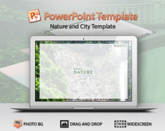 Nature and City PowerPoint Template