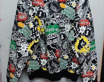 Lot29luxe fullprint sweatshirt L
