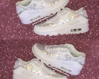 Nike Air Max 90's Fully Swarovski Crystallised in Certifed Diamond Swarovski Crystals