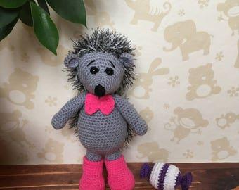 Crochet hedgehog, amigurumi hedgehog, stuffed hedgehog, soft hedgehog, gift hedgehog, hedgehog decor, hedgehog