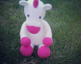 Size 46cm foot Unicorn's Horn and 30cm sitting