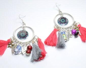 Earrings Bohemia multicolored