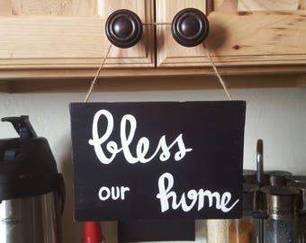 Canvas Art- Bless- Home- Decor