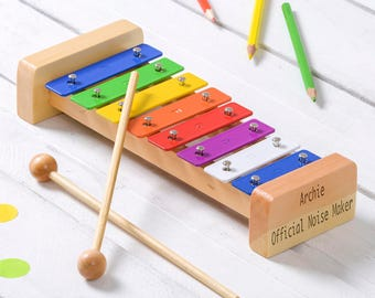 Engraved 8 Note Xylophone, Personalised Kids Xylophone, Personalised Musical Toy