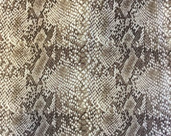 Chocolate Snakeskin Sheer Fabric - 58 Inches Wide