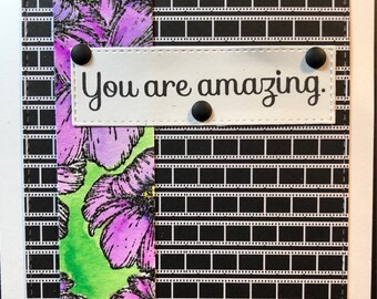 thinking of you card, friendship card, friends, you are amazing, amazing