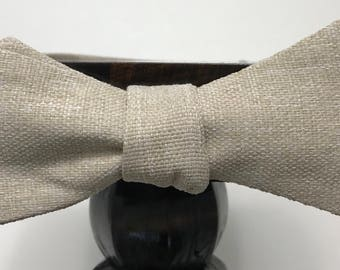 Canvas Men's bow tie, self-tie handmade and adjustable from upcycled and repurposed material  // woven // ReTied