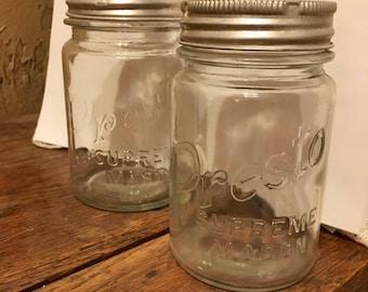 Pair of Pint Presto Mason Canning Jars
