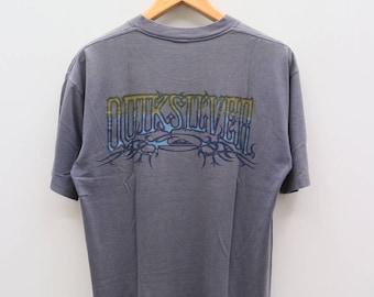Vintage QUIKSILVER Hawaii Aloha Surfing Gray Tee T Shirt Size M