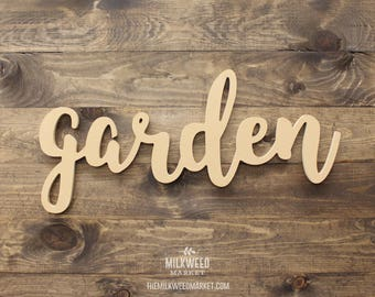 garden Cutout Sign, Unfinished