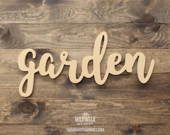 garden Cutout Sign