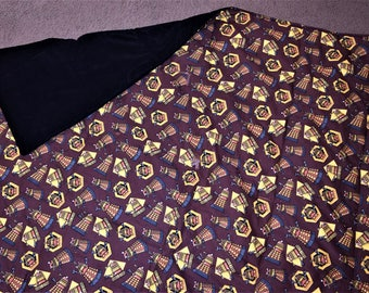 Daleks Doctor Who blanket