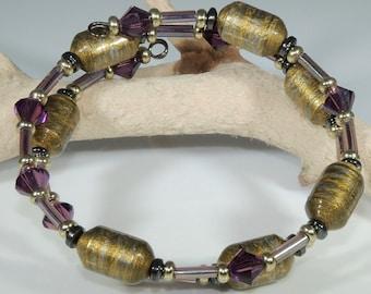 Royal Gold (Upcylced Paper Bead Bracelet/HPBW0015)