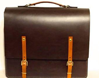 Leather Briefcase, Messenger Bag