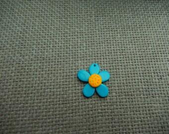 Flower Daisy polymer clay charm