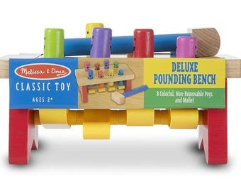 Deluxe Pounding Bench Wooden Toy