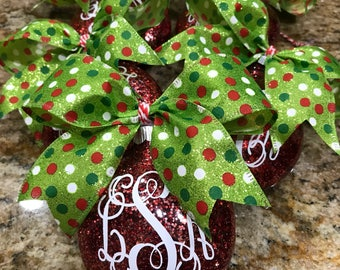 MONOGRAMMED Holiday Ornaments