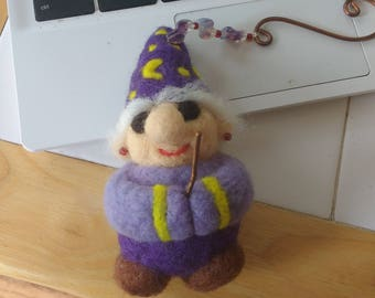 Needle Felted Gnomes, Made To Order, Free USA Shipping