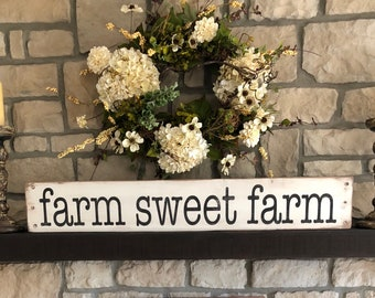 Farm Sweet Farm sign, rustic farm sweet farm sign, farmhouse sign