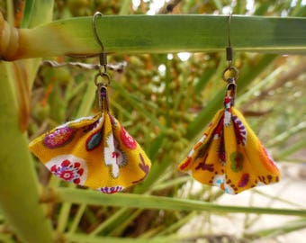 "Fabric Earring ""range of flowers"""