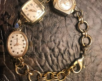 Vintage Inspired Bracelet made out of upcycled watches