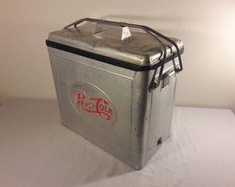 1950s Pepsi Cola Aluminum Cooler