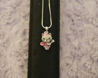 Crystal Princess Kitten Necklace