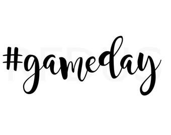 hashtag game day svg, football svg, cricut cutting file, its gameday yall, sports svg, fitness svg, game svg, day svg, i love football svg