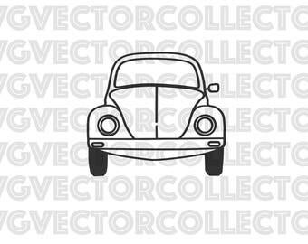 Volkswagen Beetle VW Bug Front, Svg Dxf Eps Png, Clip Art, Instant Digital Download