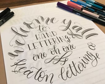 FRIDAY, July 21st - Hand Lettering 101