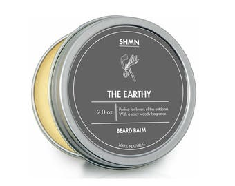 SHMN BEARD BALM - The Earthy - 100% Natural - Woody Fragrance leave in beard conditioner