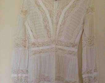 Boo Radley White Lace Blouse (free shipping)